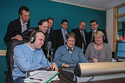 Radio Station Launch, Able Radio, Pontypool, Newport, South Wales.