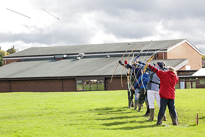 Archery Competition, Clout, Llandrindod Wells, Powys.
