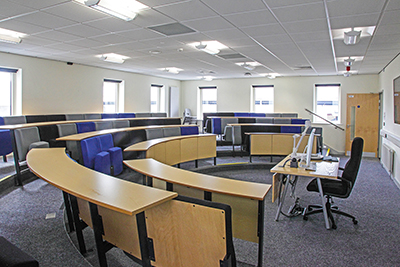 Photo of lecture room in new Hight Shool, Penarth, Taken for the Architects and Builders