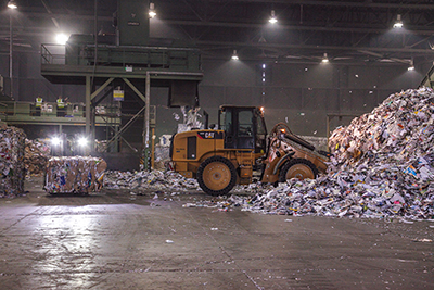 Photography taken for Parry & Evans at their Deeside Recycling Plant Warehouse