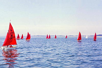 Mirror Dingies racing in the Solent during Cowes Week