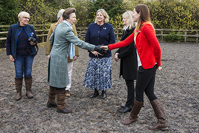Press coverage, HRH Princess Ann, Cantref Riding Centre, Brecon, Pony Club.