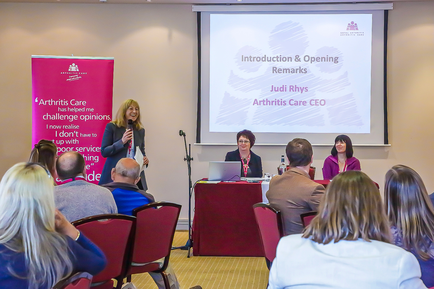 Coverage of Arthritis Care annual conference., Hotel, Mertopoll.